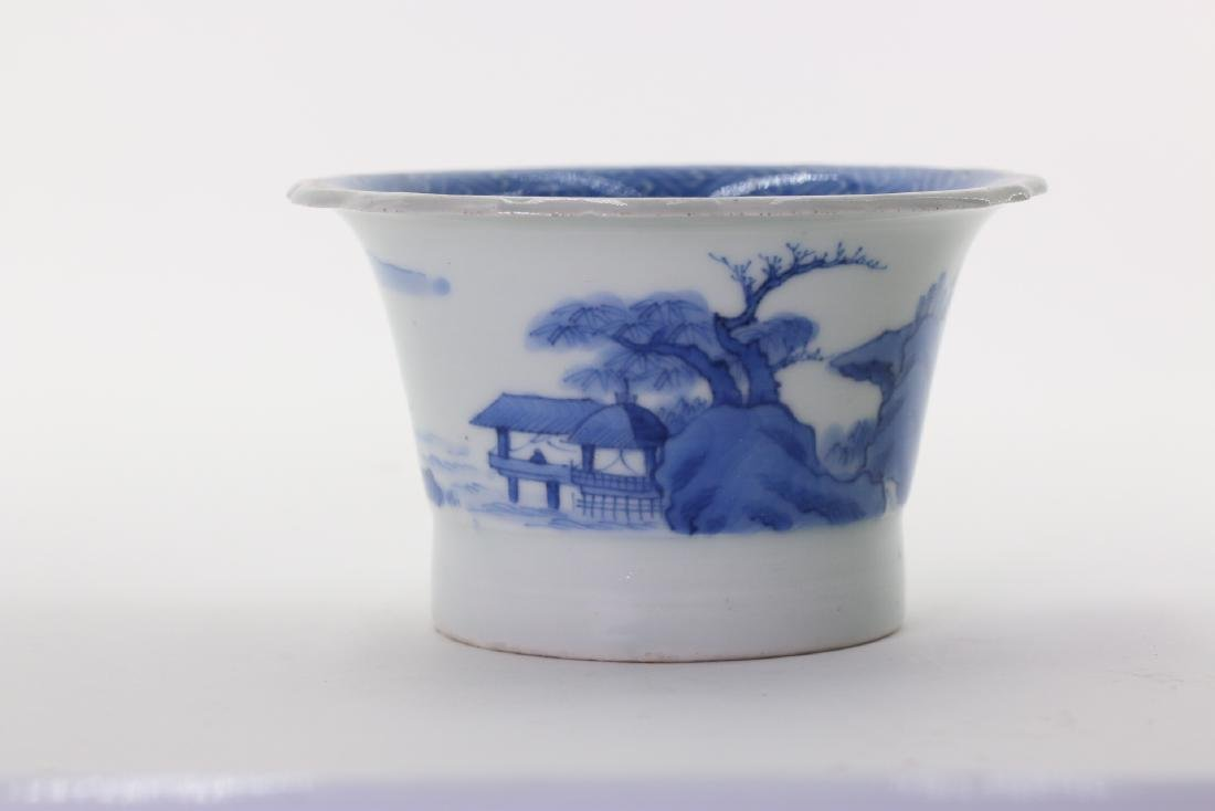 A Chinese Blue and White Porcelain Cup.