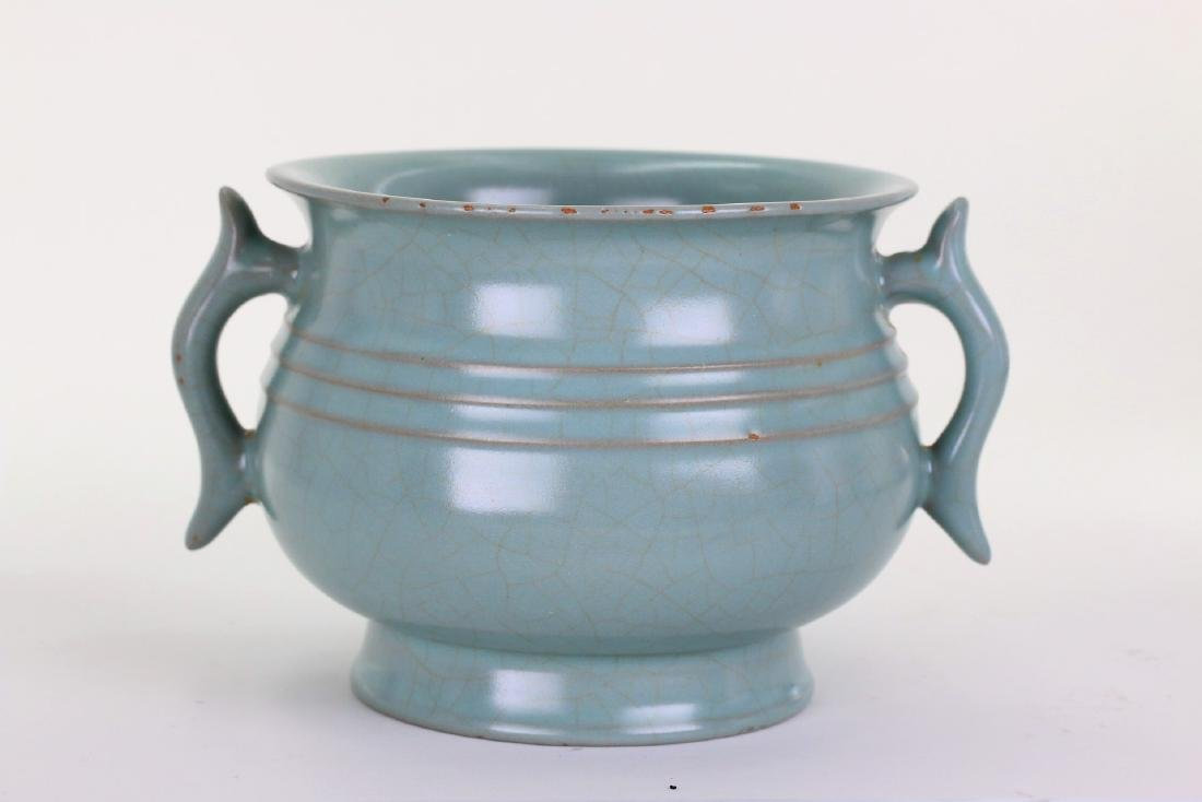 A Chinese Ru-type porcelain censer