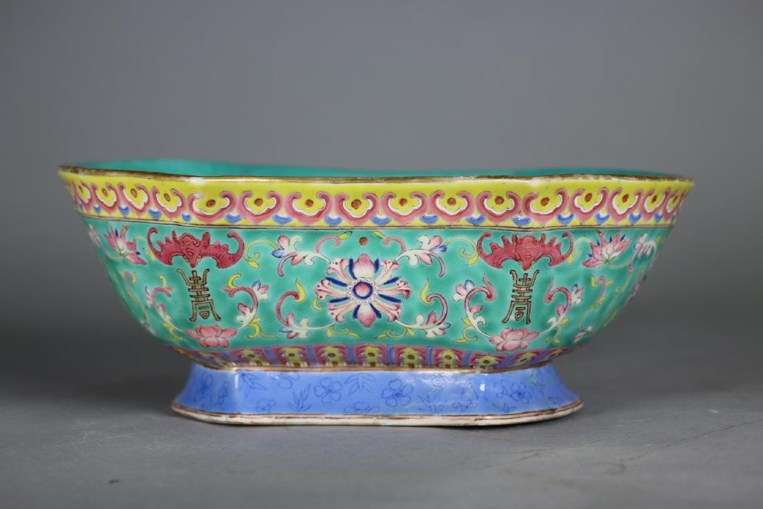 A Famille-Rose Porcelain Bowl,Qing dynasty
