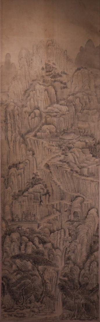 A Chinese Scroll Painting of Landscape, Anonymous.