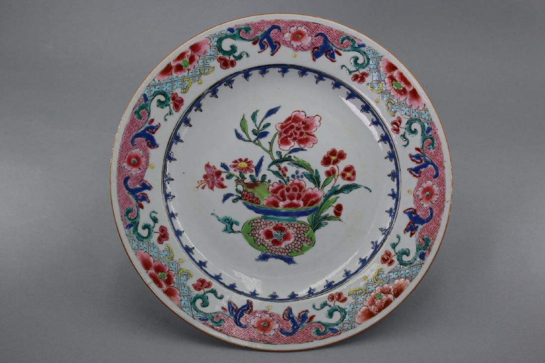 A Chinese Famillie Rose Plate, Qing Dynasty