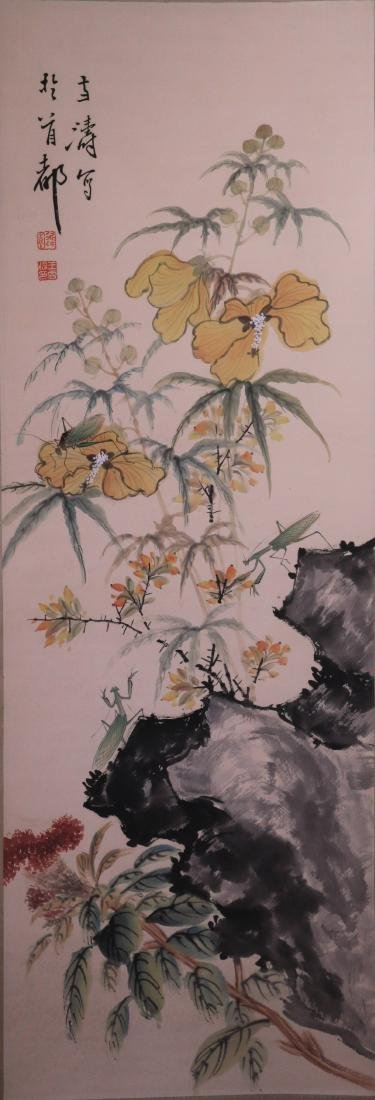 A Chinese Scroll Painting, Signed Wang Xue Tao