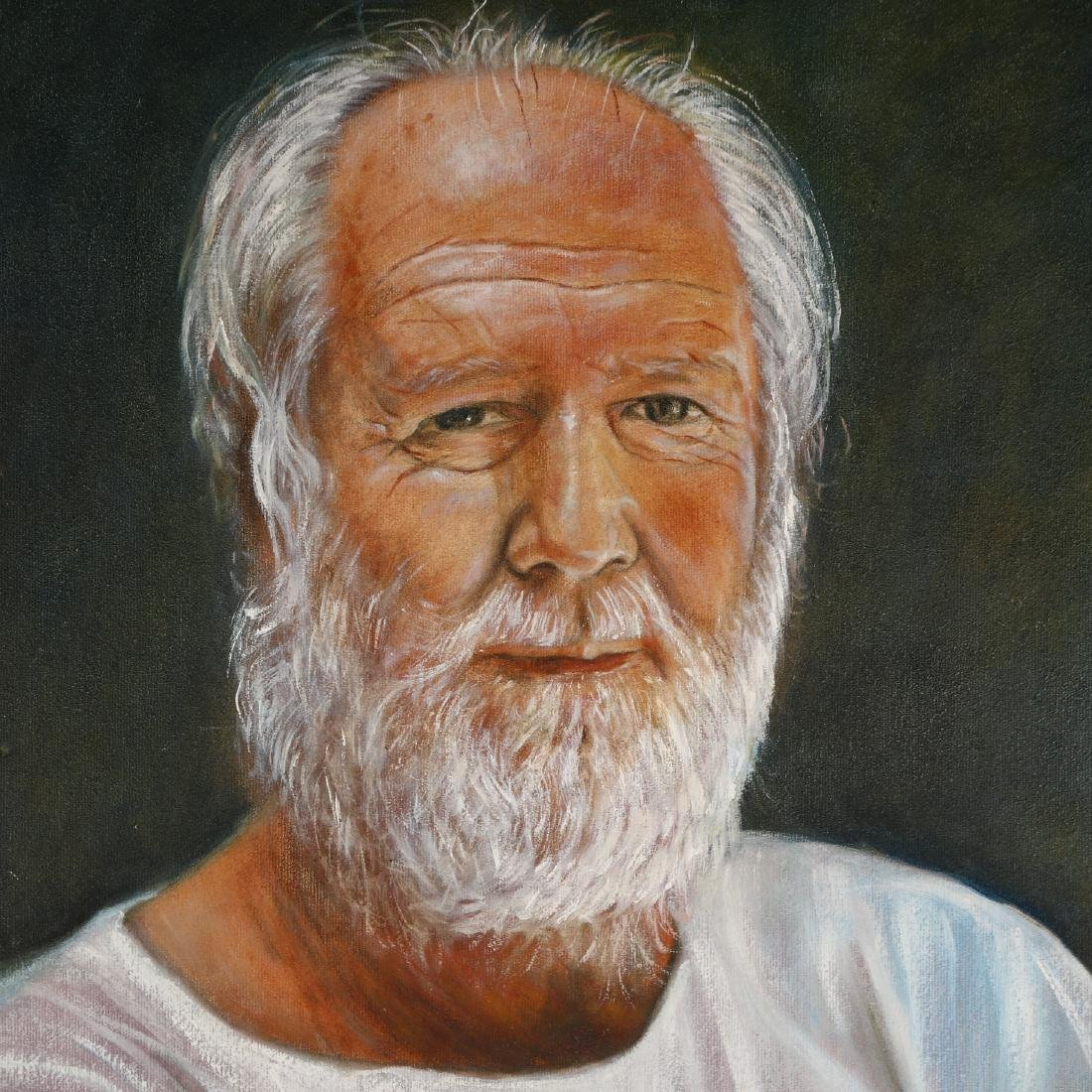 A Oil Painting of an Old Man's Portrait,Signed by Yards - 2