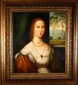 An Oil Painting of a women's Portrait
