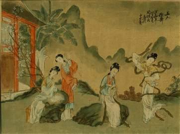 A Chinese Antique Painting, Zhou Hen Shi (Republic)