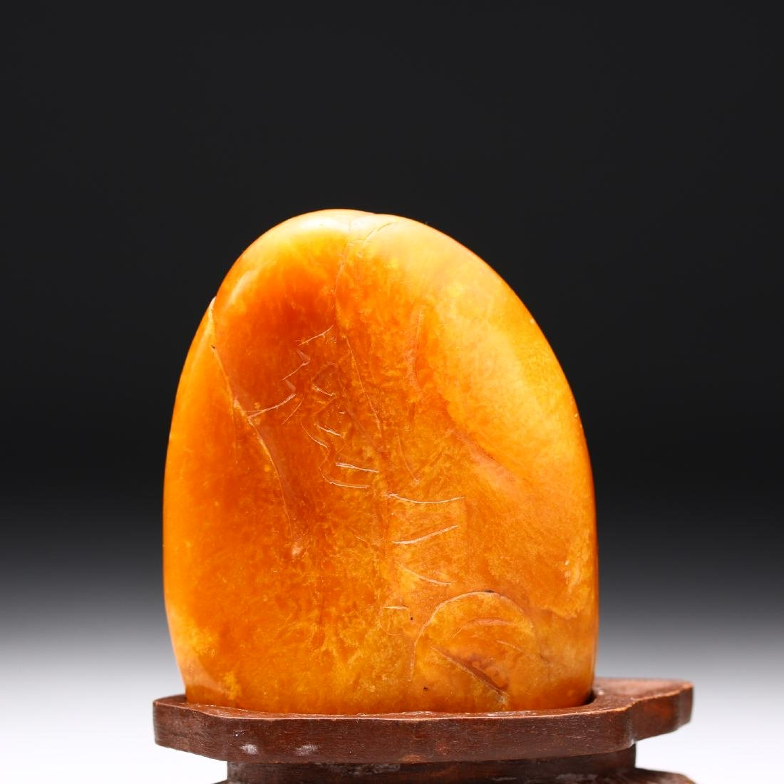 A Chinese Finely Carved Shoushan Stone - 3