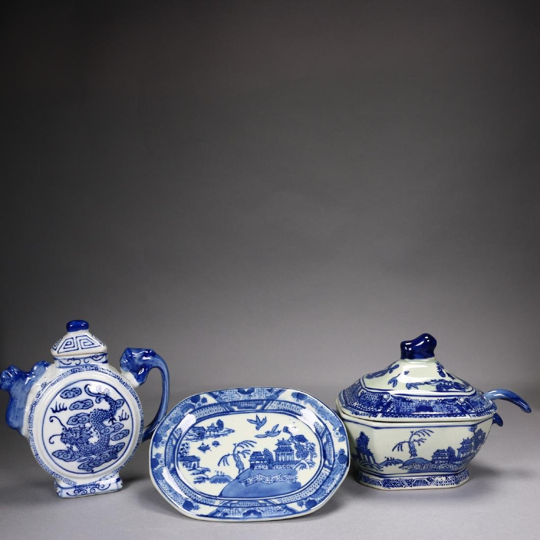 A Set of Chinese Export Porcelains