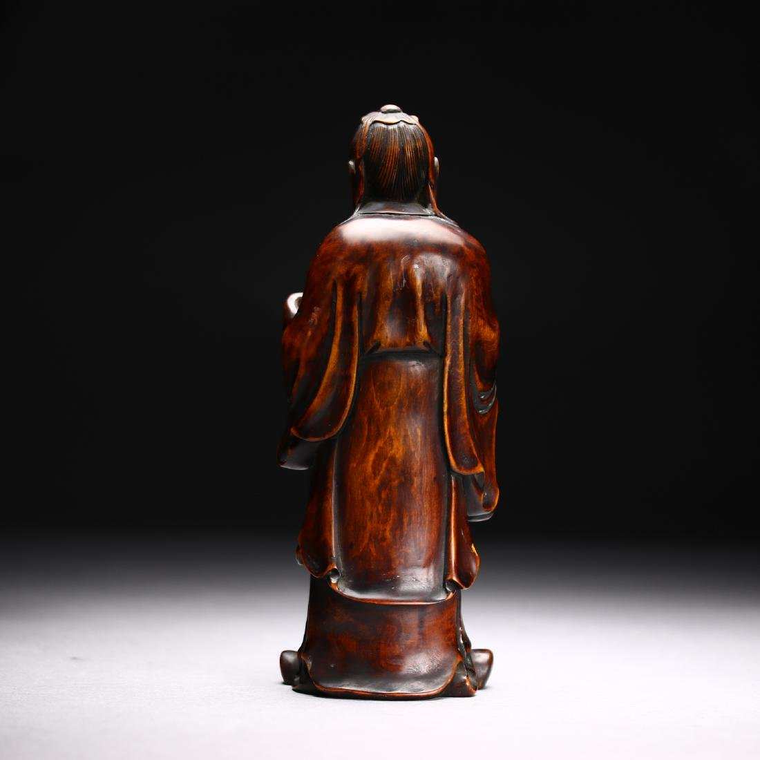 Three Huangyang Wood Carved Figures,Qing dynasty - 10
