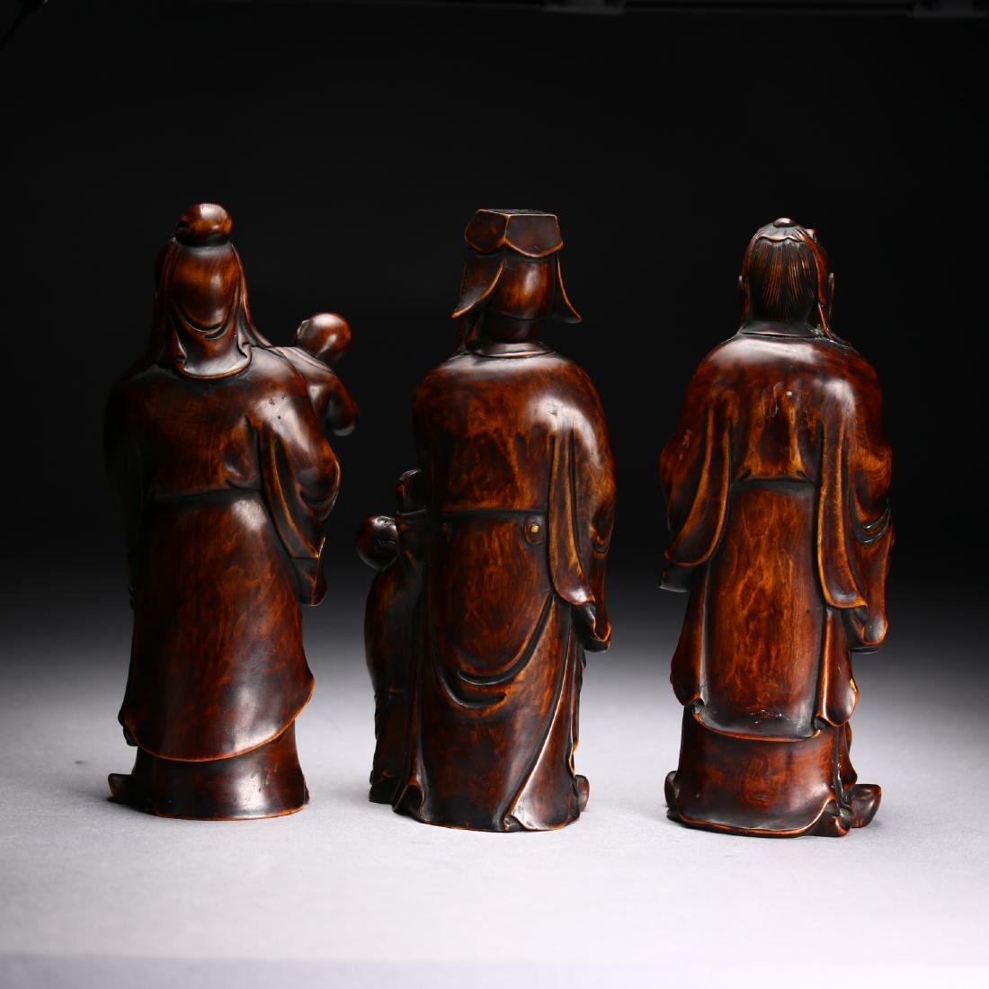 Three Huangyang Wood Carved Figures,Qing dynasty - 2