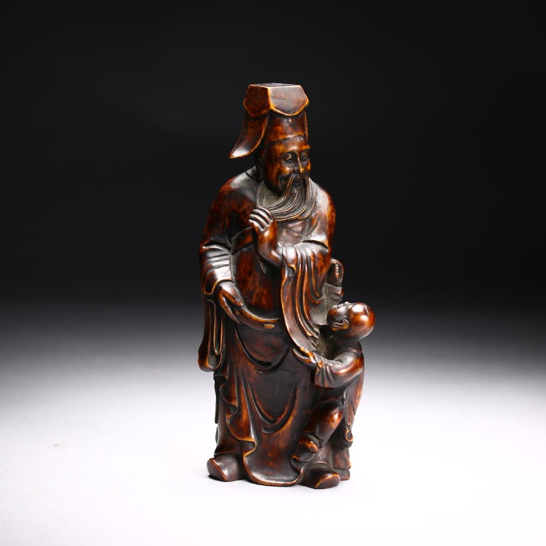 Three Huangyang Wood Carved Figures,Qing dynasty - 3