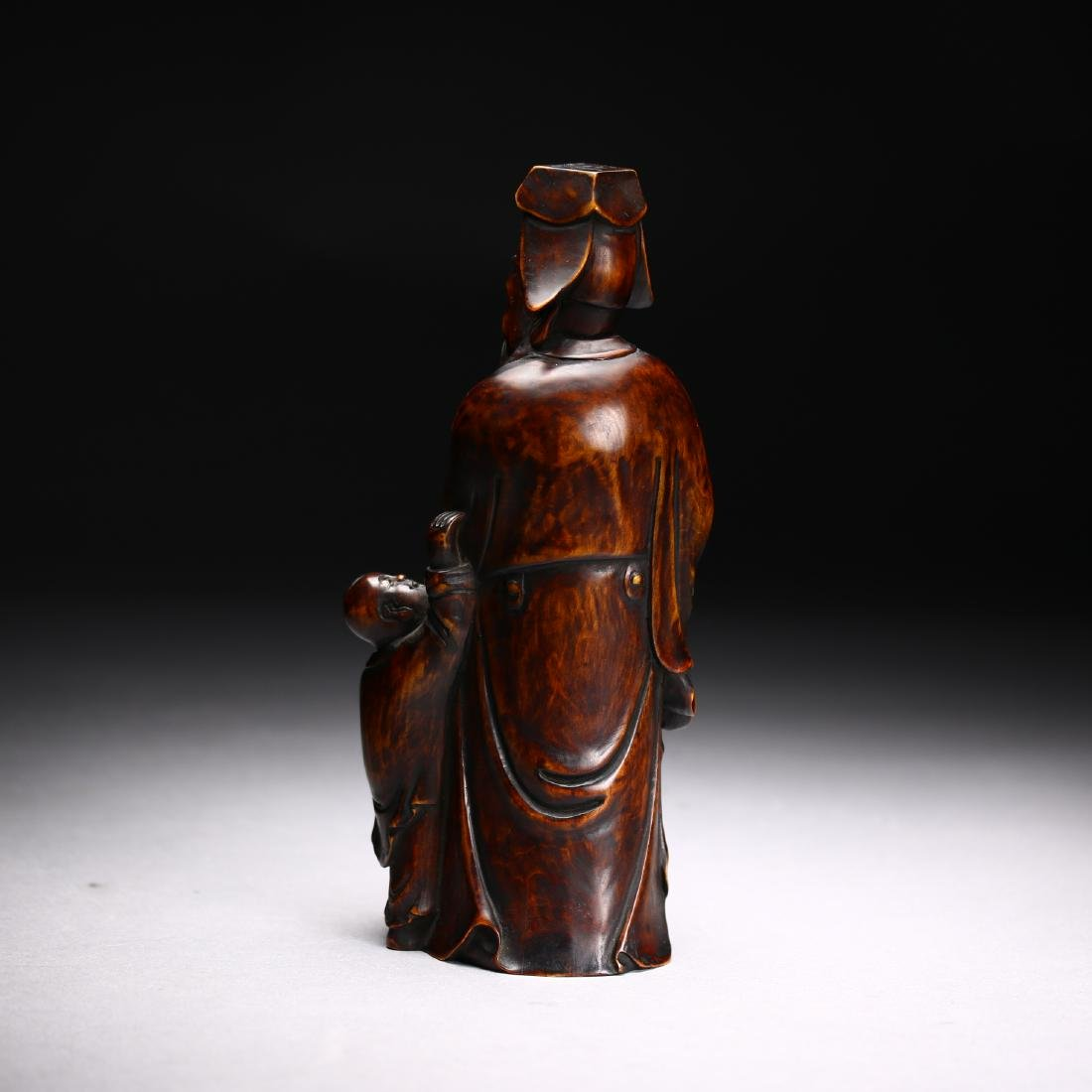 Three Huangyang Wood Carved Figures,Qing dynasty - 4