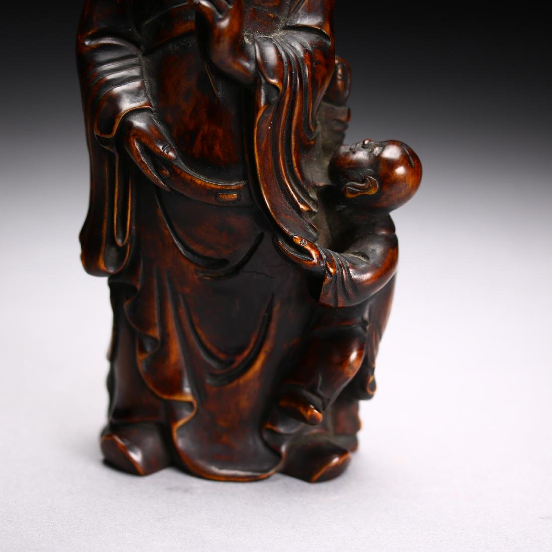 Three Huangyang Wood Carved Figures,Qing dynasty - 6