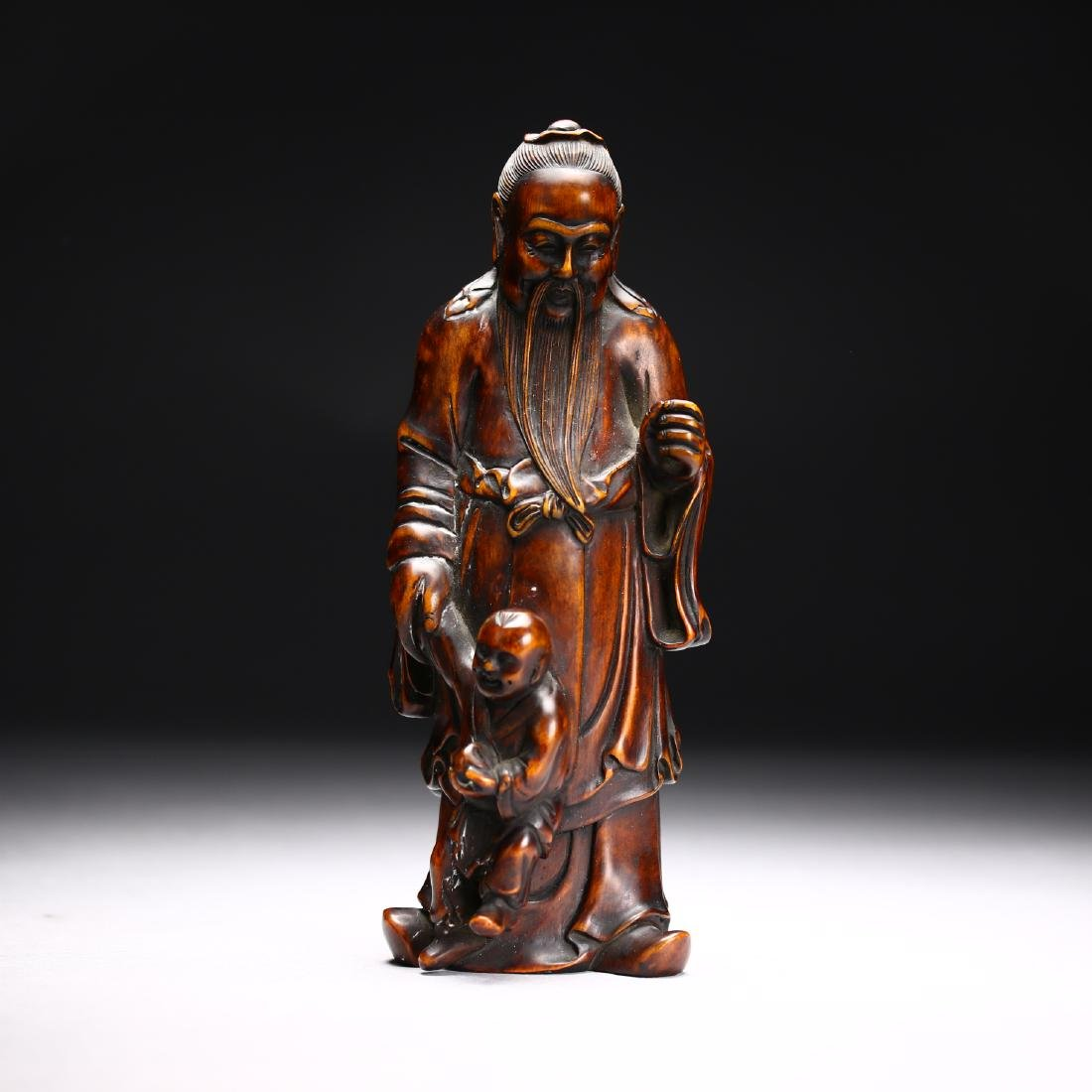 Three Huangyang Wood Carved Figures,Qing dynasty - 9