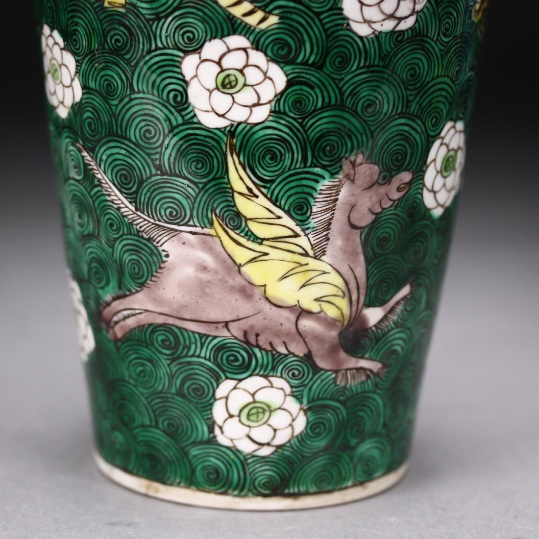 A Chinese  Famille Verte Vase - 3