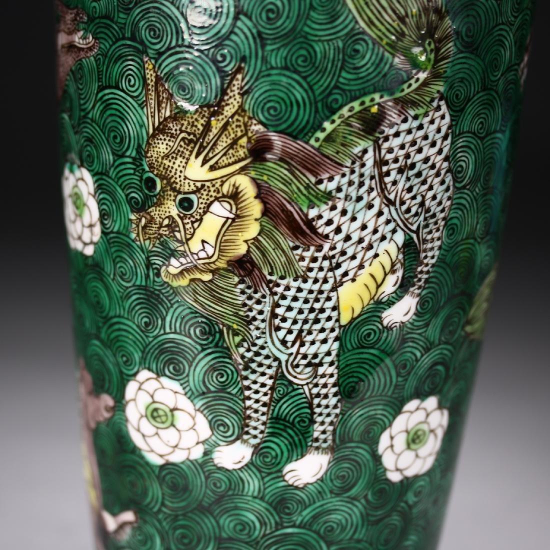 A Chinese  Famille Verte Vase - 5