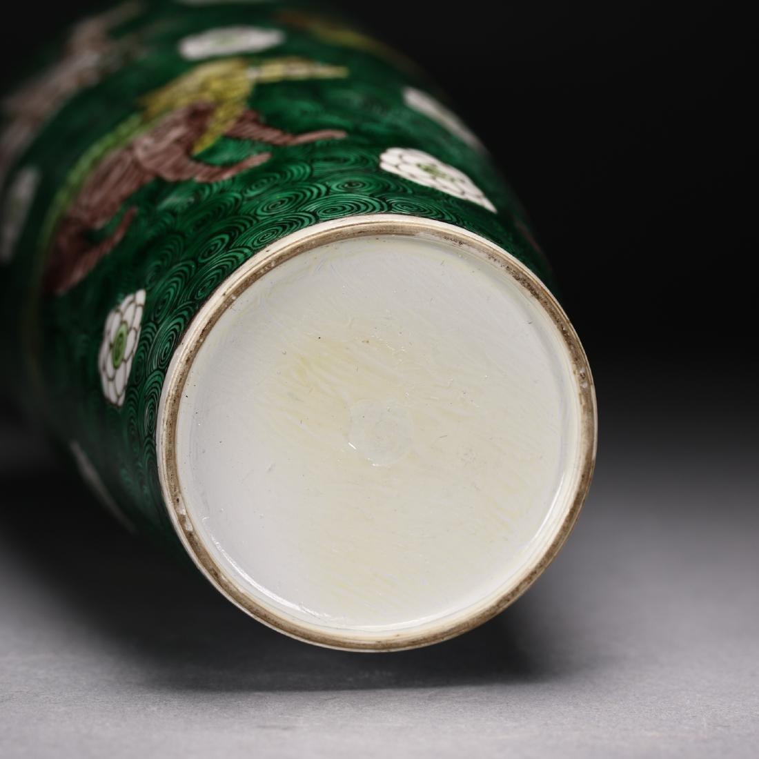 A Chinese  Famille Verte Vase - 6