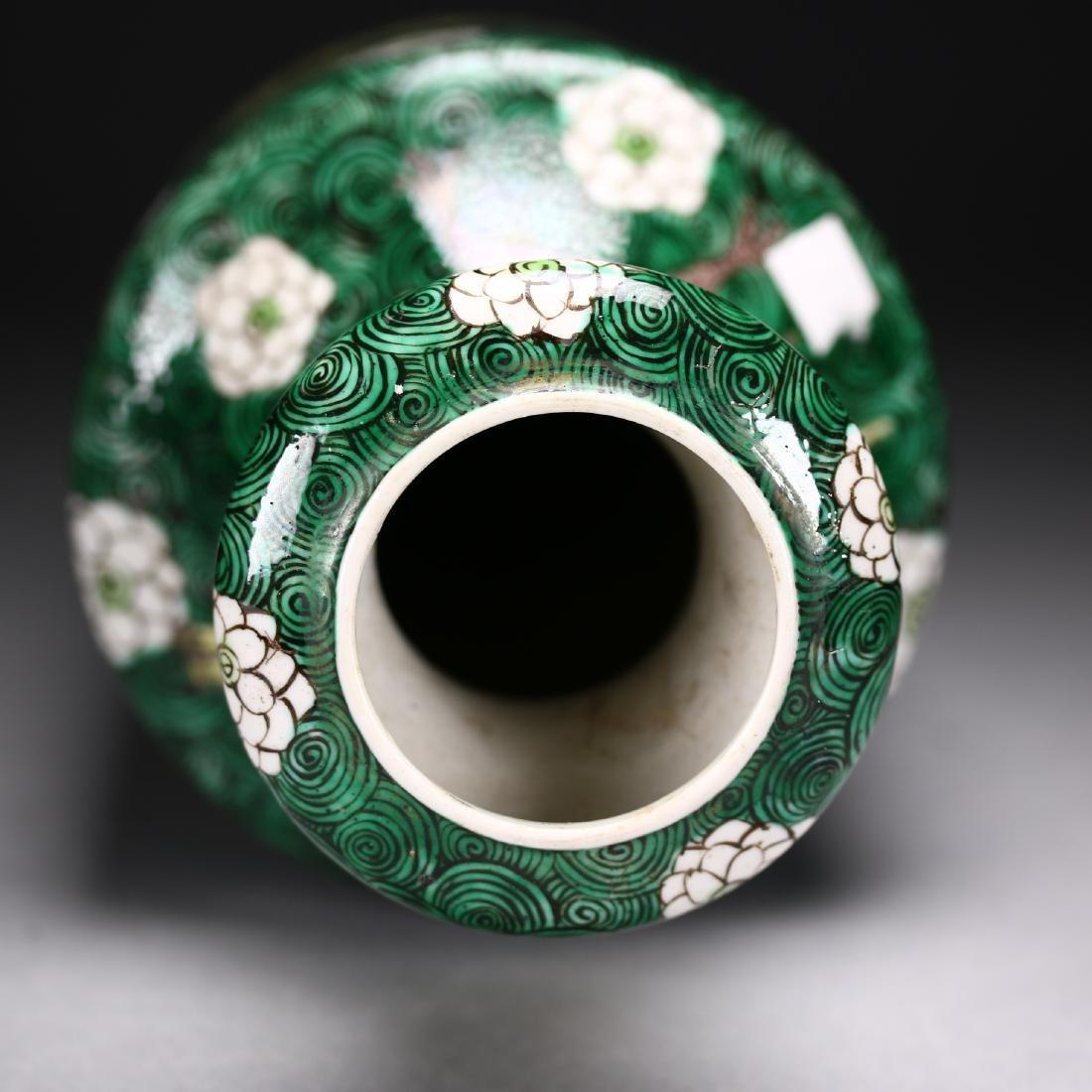 A Chinese  Famille Verte Vase - 7