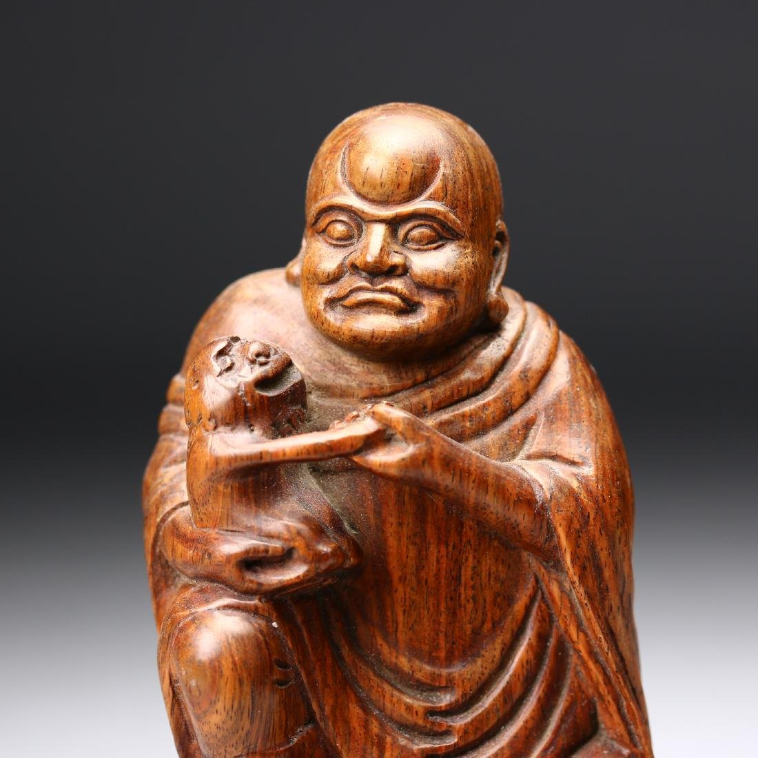 A Chinese Huangyang Wood Carved Figure - 2