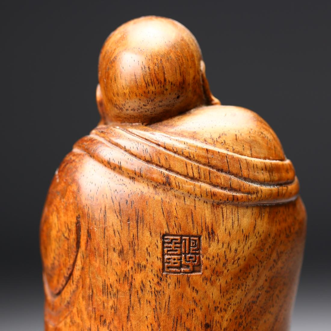 A Chinese Huangyang Wood Carved Figure - 5