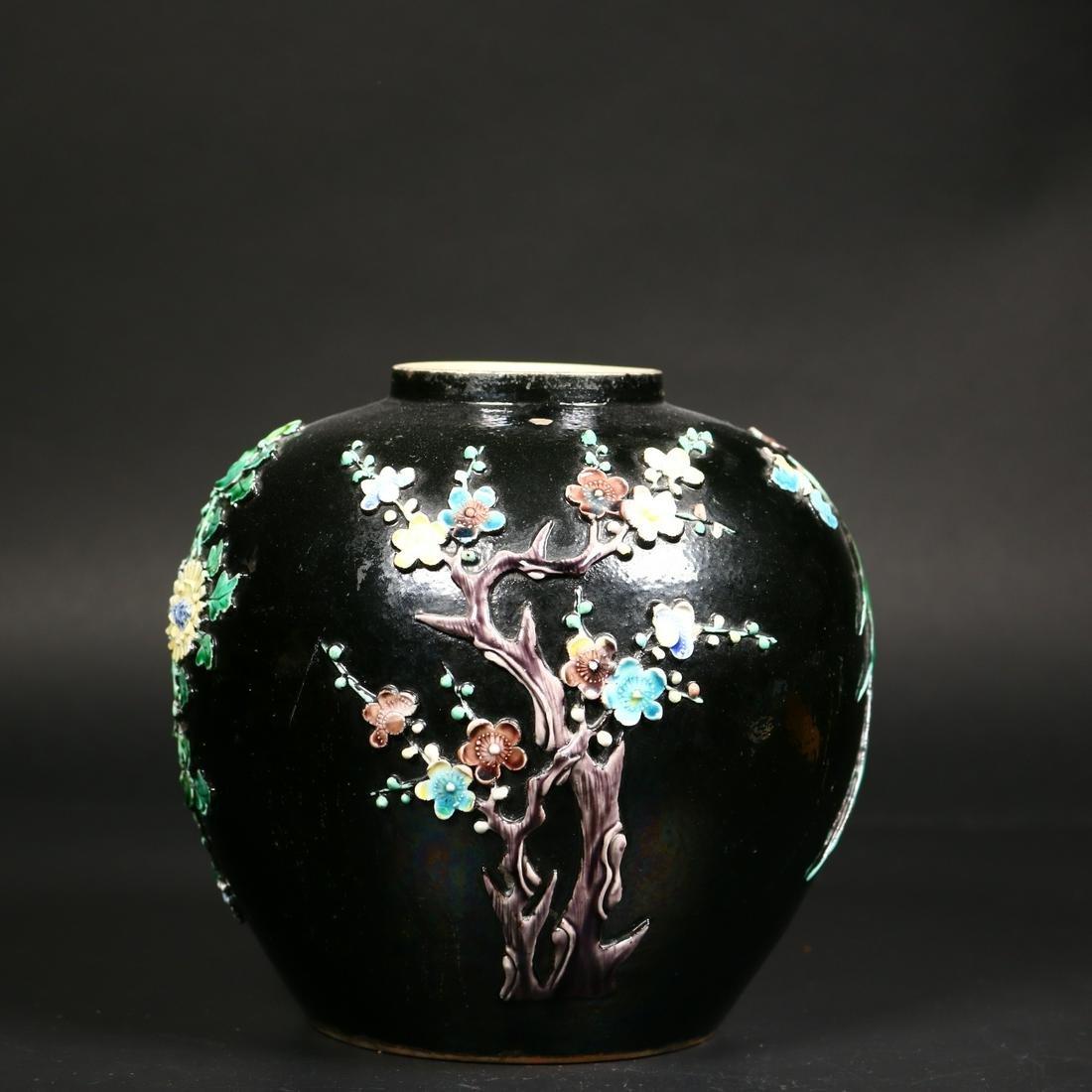 Qing Dynasty Porcelain Vase By Wang Bin Rong