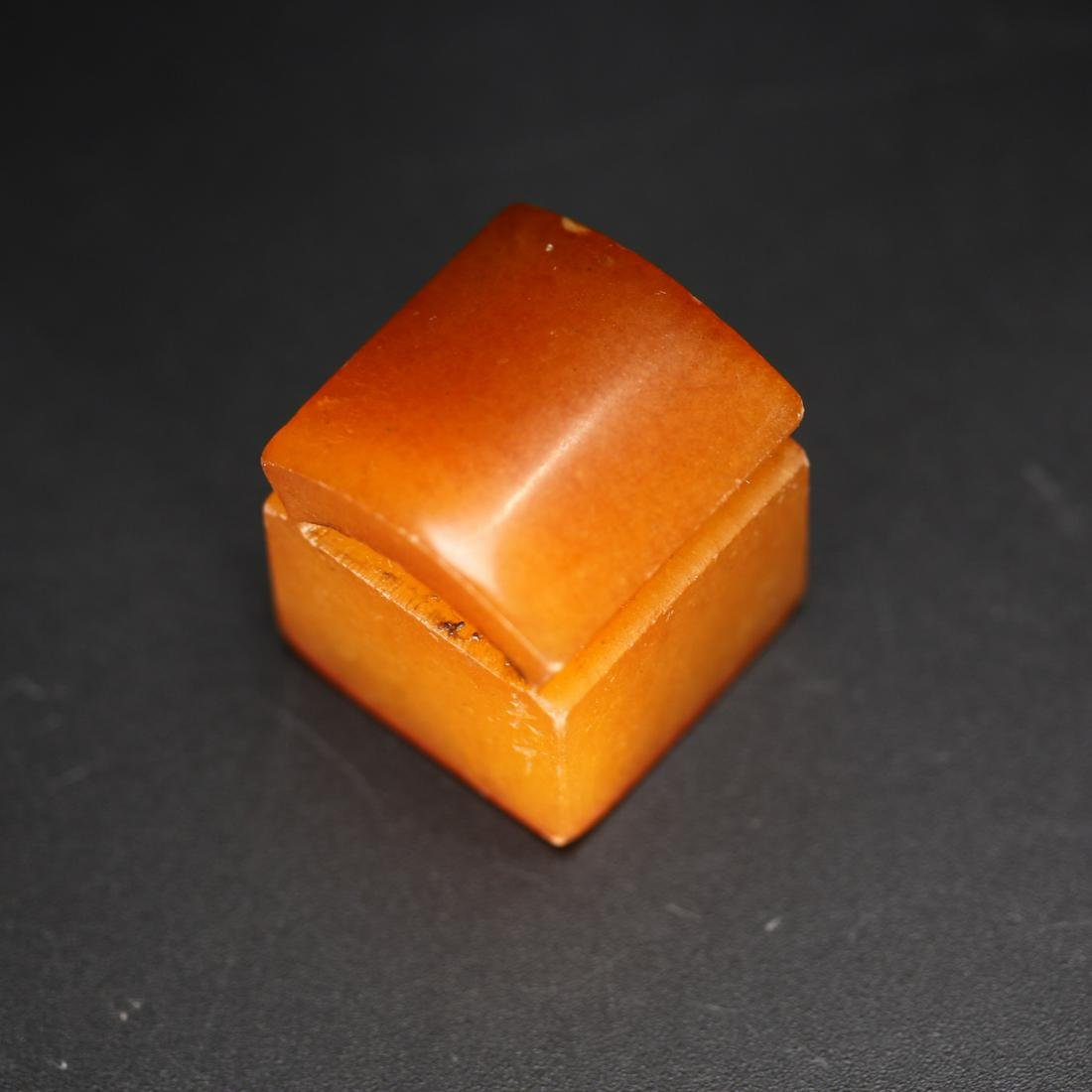 A Chinese Shoushan Stone Seal Stamp,Qing dynasty