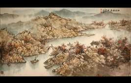 Bonhams Sale A Chinese Large Watercolor Painting