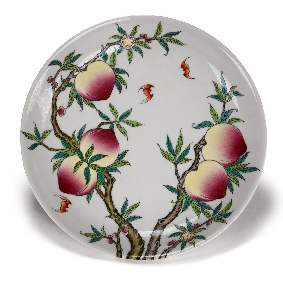 A Famille Rose Enamelled Porcelain Plate
