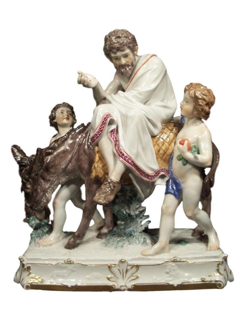 Adorable Antique Meissen porcelain group of Aesop