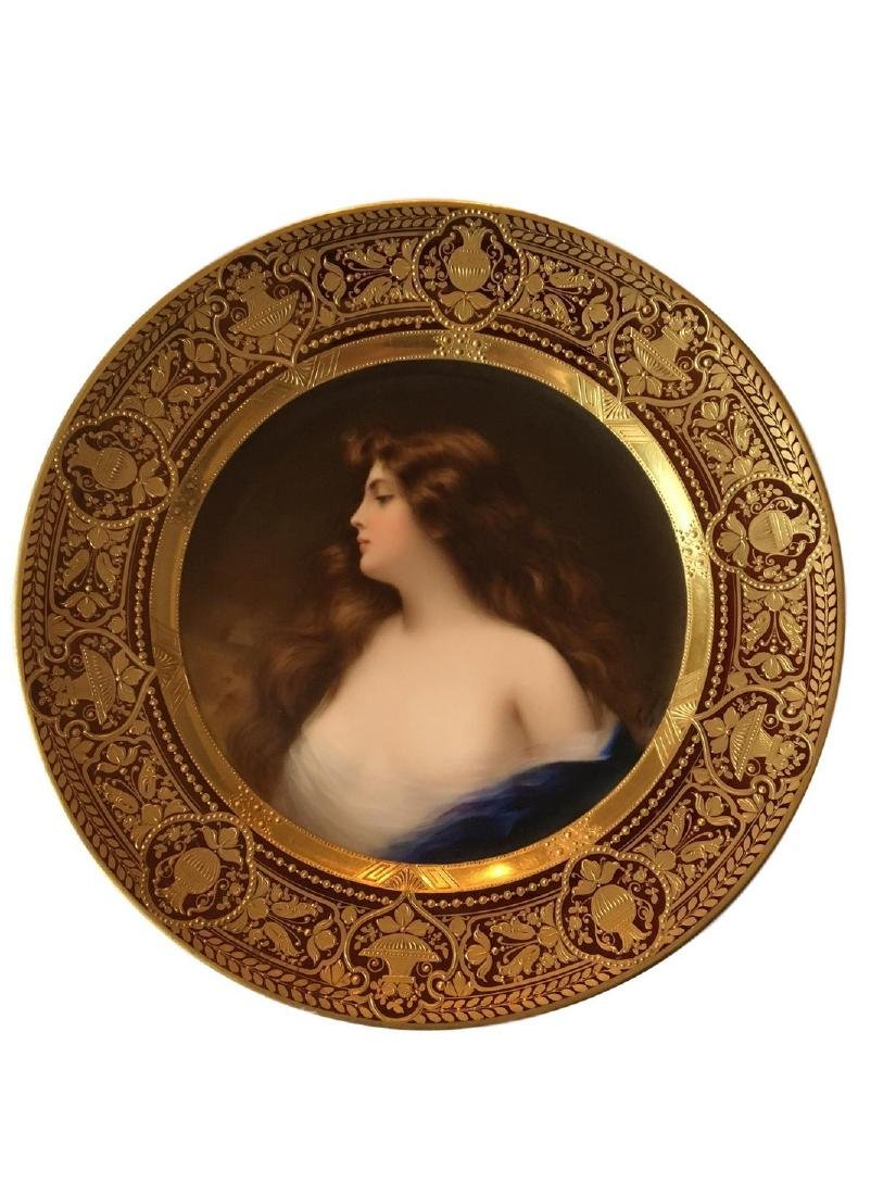 Antique Royal Vienna Porcelain Portrait Plate