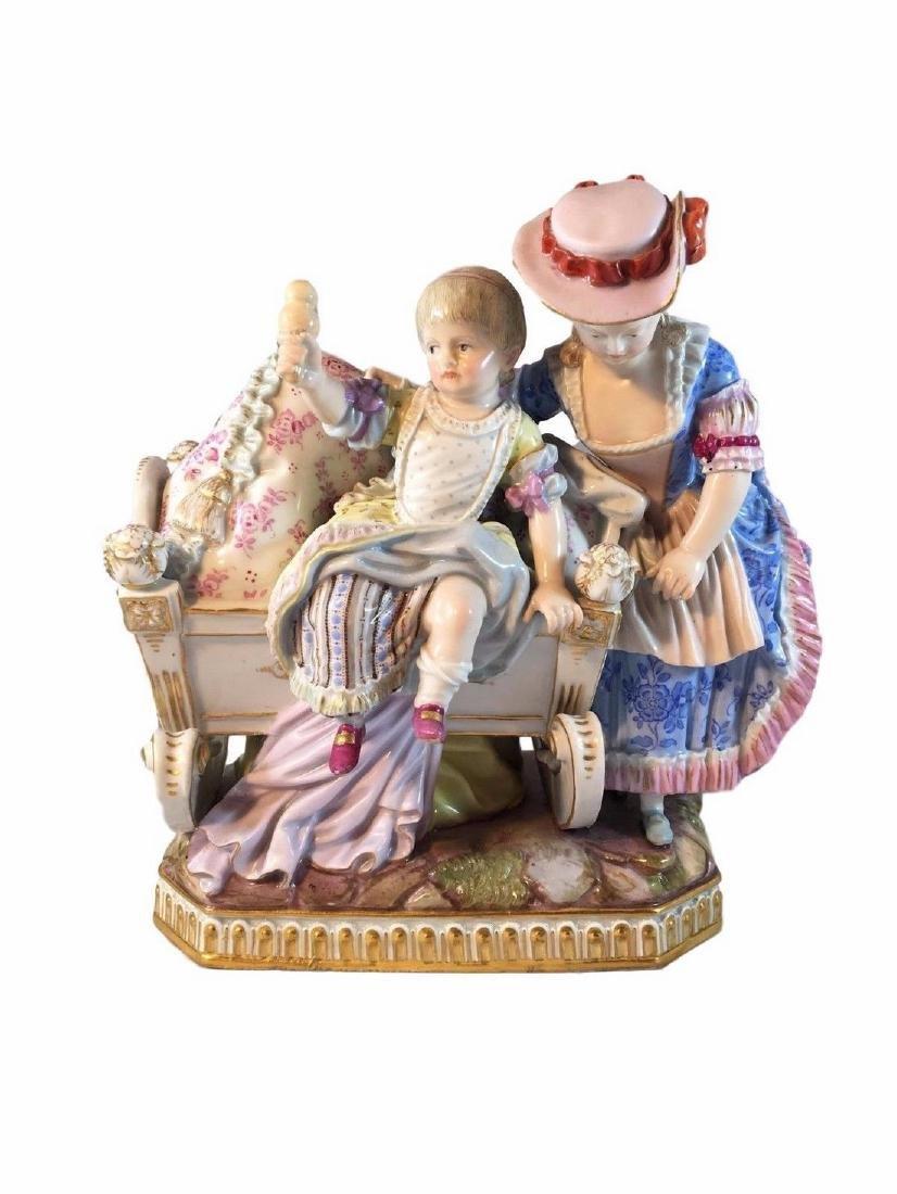 Adorable Antique Meissen Porcelain Group