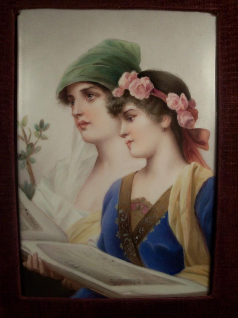 Antique KPM porcelain plaque of The Duet by Conrad - 2