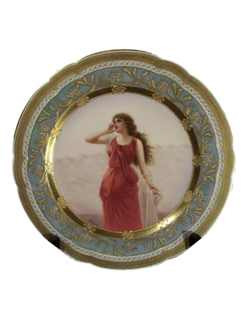 Antique Royal Vienna Porcelain Hand Painted Plate Echo