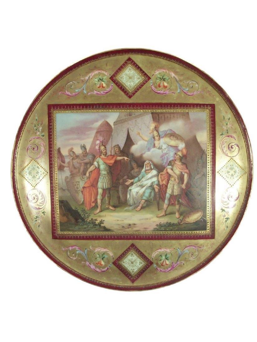 Large Antique Royal Vienna Porcelain Charger