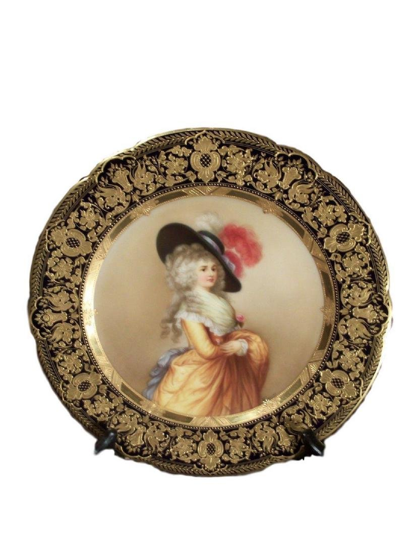 Antique Royal Vienna Porcelain Hand Painted Plate