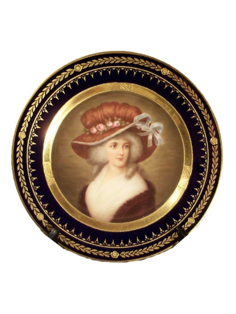Antique Royal Vienna Porcelain Hand Painted Plate of