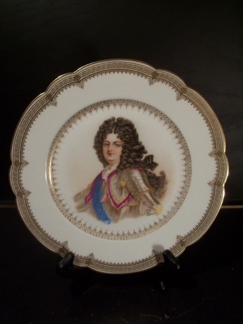 Antique Sevres Porcelain Hand Painted Plate Signed