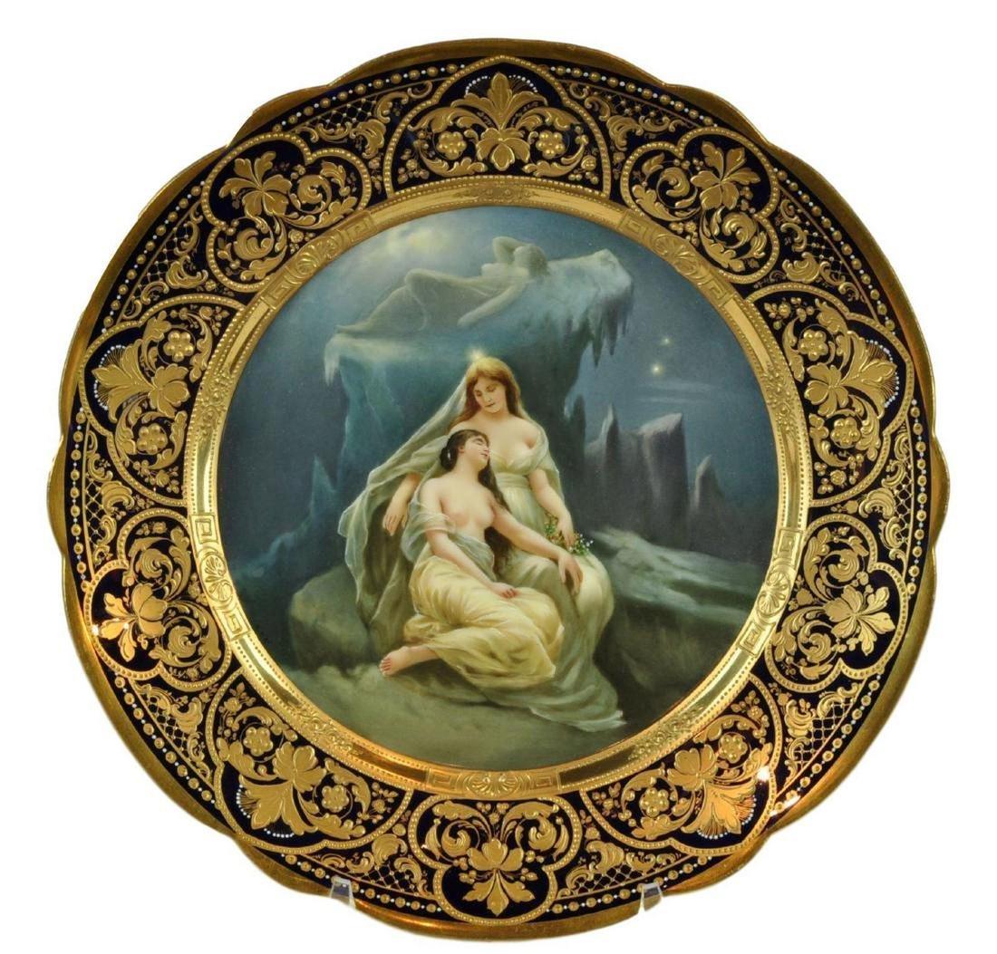 Beautiful Antique Royal Vienna Porcelain Plate