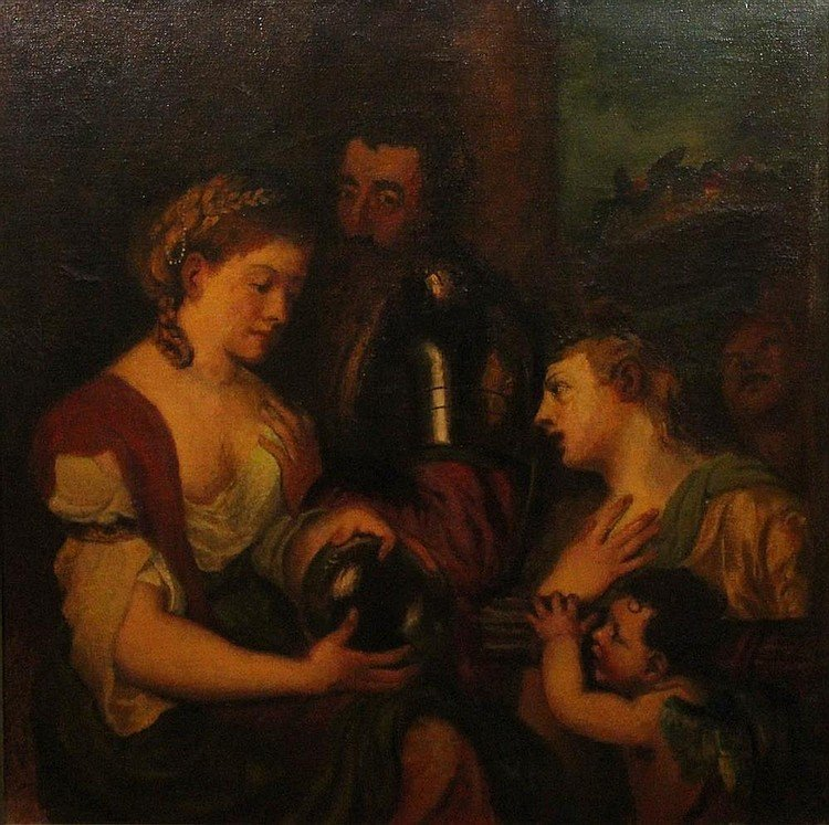 Late 19th Century Oil on Canvas AFTER TITIAN - 2
