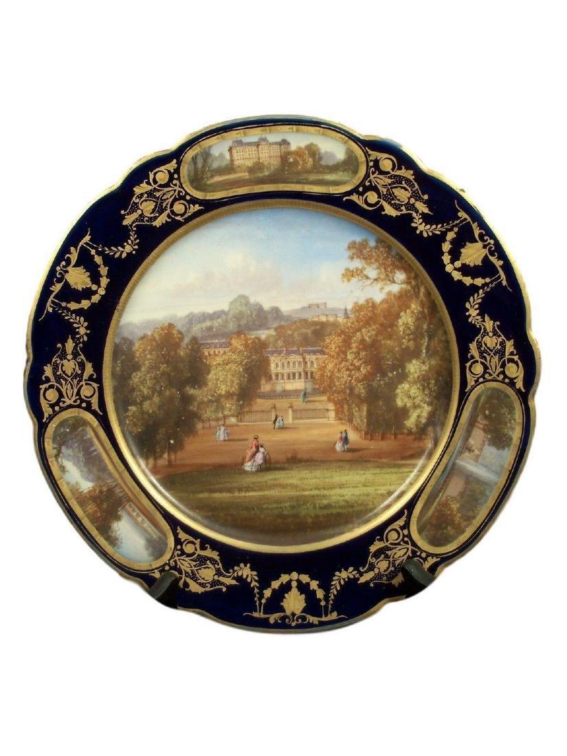 Exceptional Antique Sevres Porcelain Hand Painted Plate