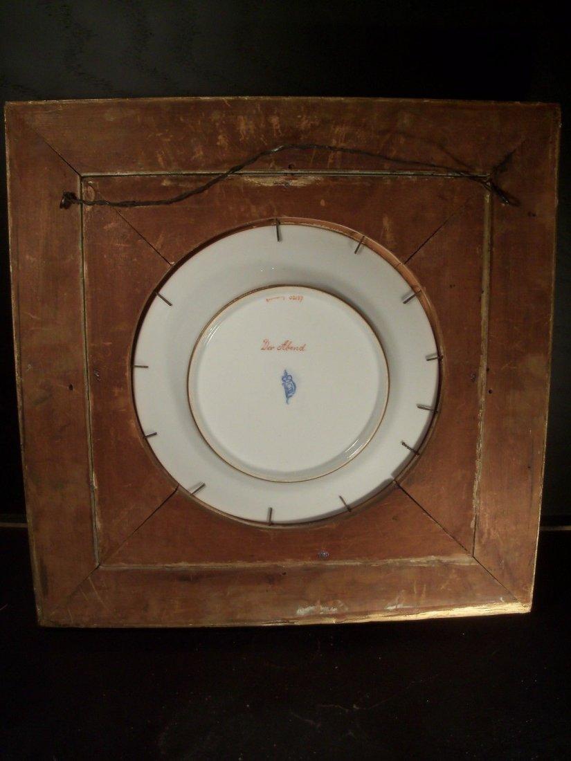 Framed Antique Royal Vienna Porcelain Plate Signed - 2
