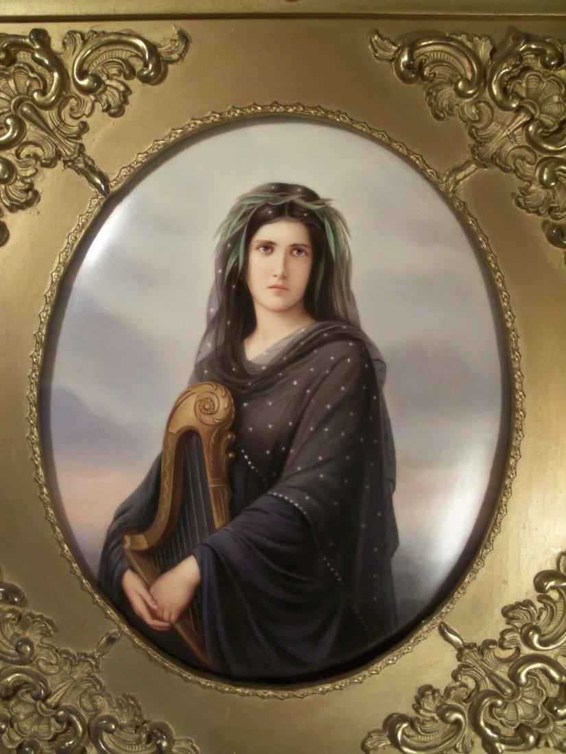 Museum Quality Antique KPM Hand Painted Portrait - 2