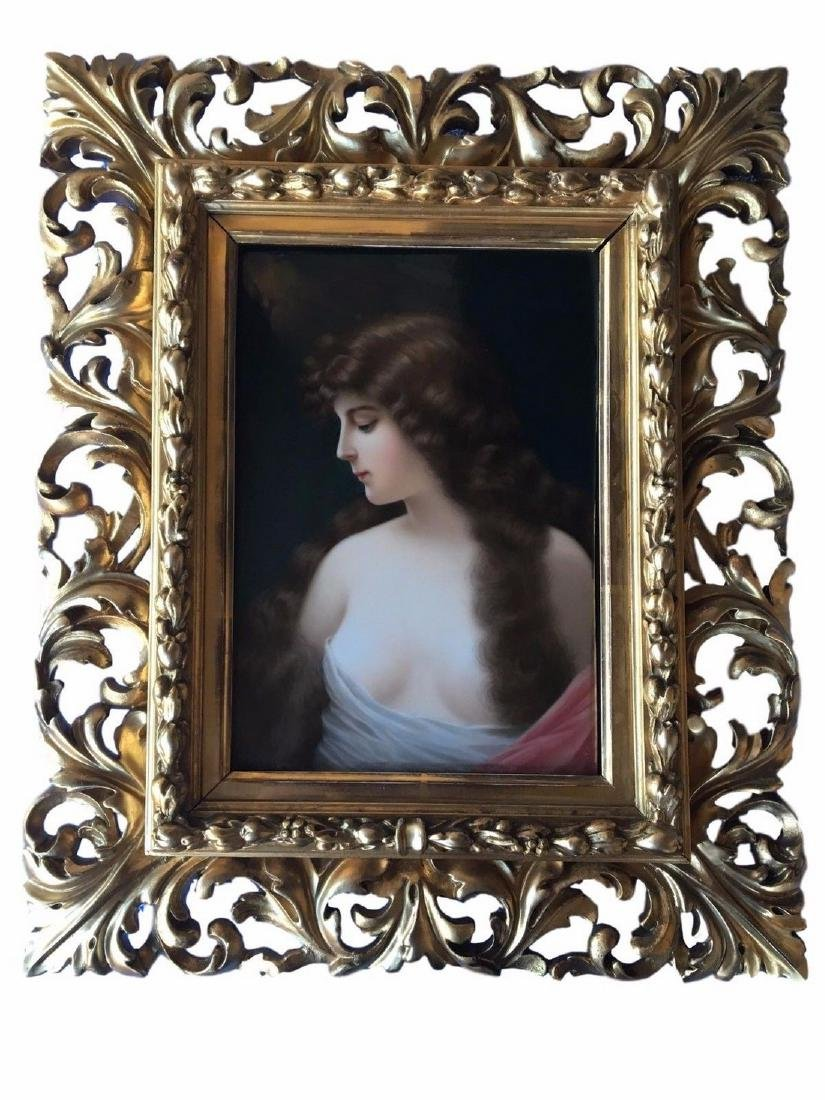 Museum Quality Antique KPM Hand Painted Portrait