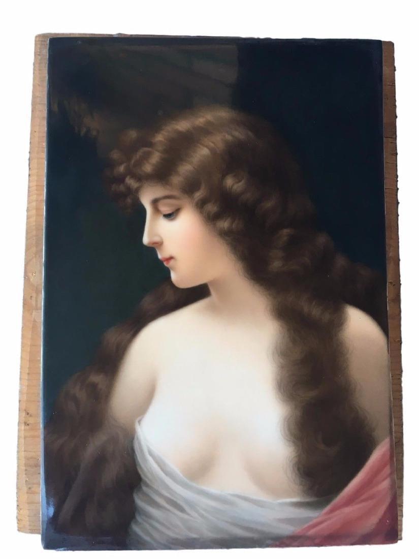 Museum Quality Antique KPM Hand Painted Portrait - 3