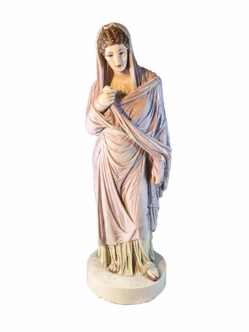 Rare Antique Meissen Porcelain Figure of a Priestess of