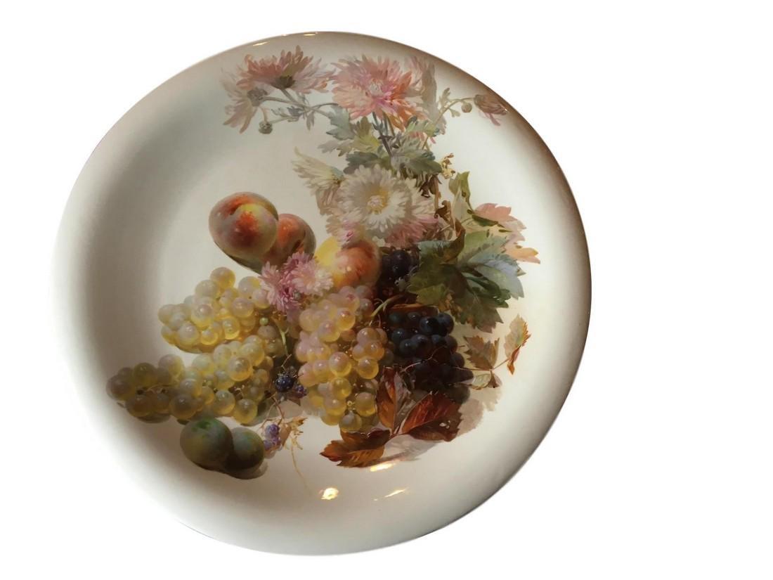 """Large Antique Meissen Porcelain Charger 18 1/2"""""""