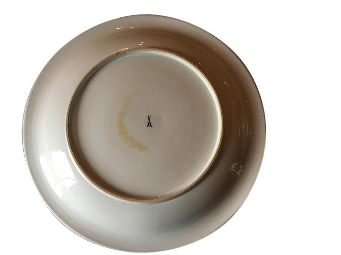 """Large Antique Meissen Porcelain Charger 18 1/2"""" - 2"""