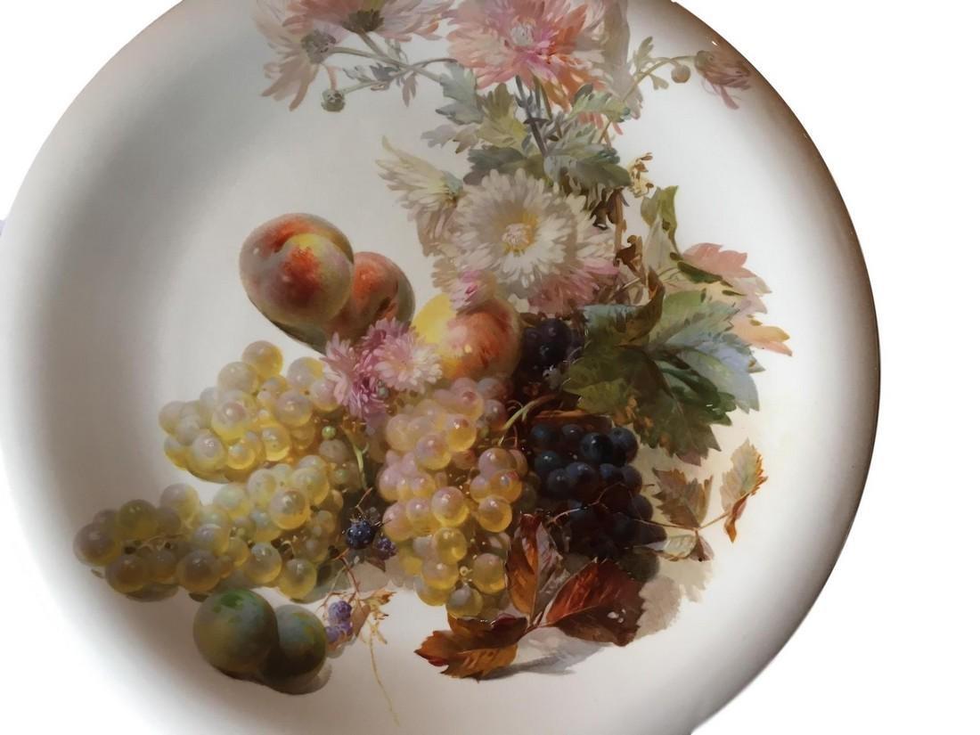 """Large Antique Meissen Porcelain Charger 18 1/2"""" - 3"""