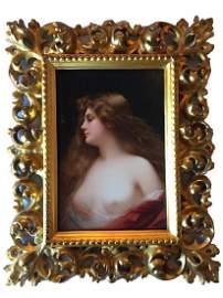 Museum Quality Antique KPM Hand Painted Portrait