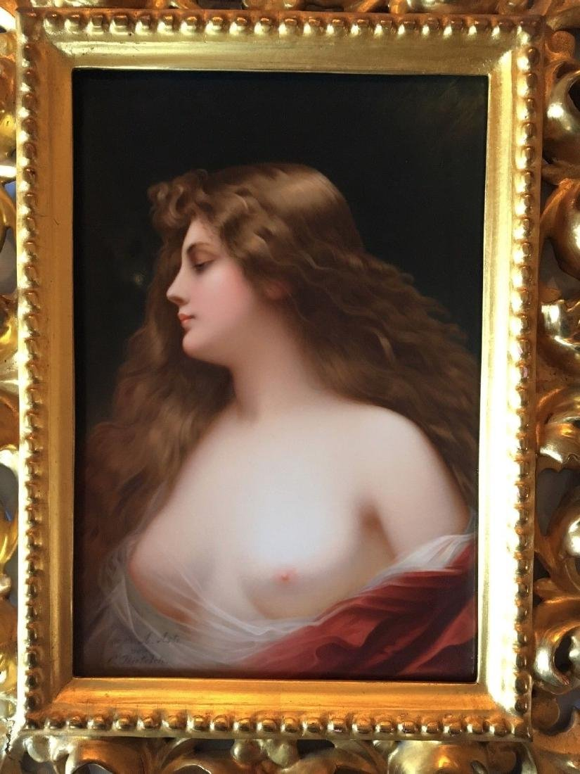 Museum Quality Antique KPM Hand Painted Portrait - 4