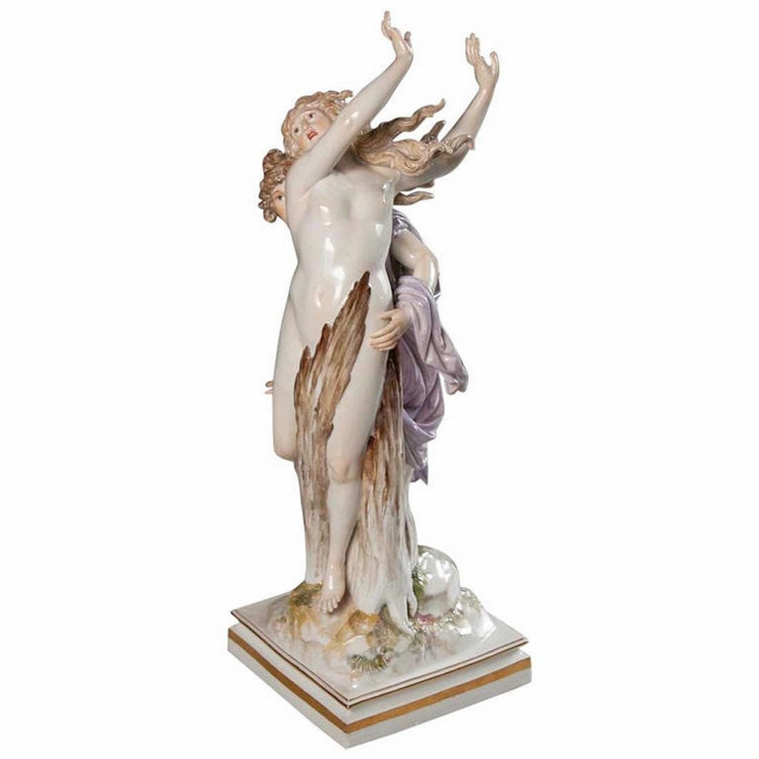 Antique Meissen Porcelain Figure of Apollo & Daphne